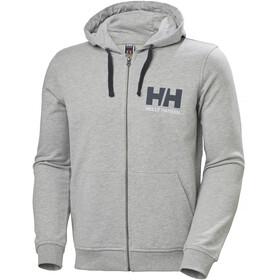 Helly Hansen HH Logo Sudadera Capucha Cremallera Completa Hombre, grey melange